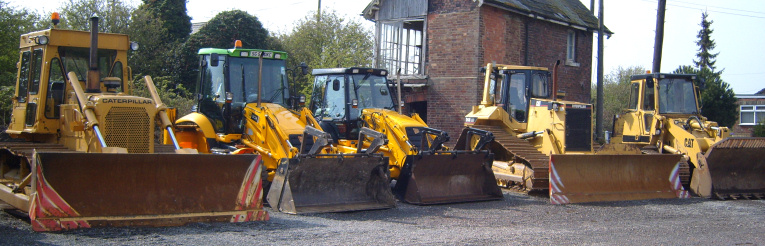 Equipment in the Fenland Tractors yard