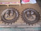 Daewoo 175 Used Sprocket Rims and Top Rollers pic 1